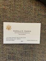 Kamala Harris Official Business Card California Senator President Democrat