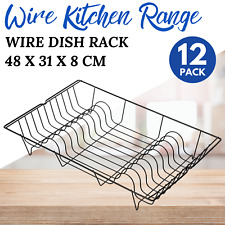2x Metal Dish Rack Plates Drainer Tray Stand Kitchen Storage Bowls Cups Draining
