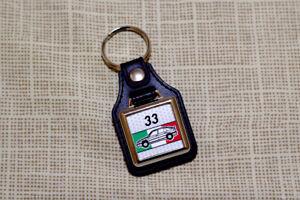 Alfa Romeo 33 Keyring - Type 905 & 907 - Leatherette & Chrome Keyfob