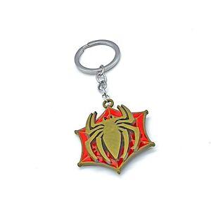 Spiderman Keyring Spinning Keychain Bag Tag Keyfob Keychain Bagcharm Zip Puller