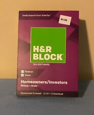 H&R Block Deluxe + State 2018 Homeowners/Investors Tax Software Disc
