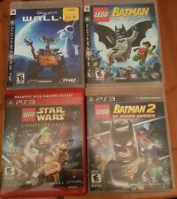 PS3 Game Lot-Wall-E & Lego Batman, Batman2 and Star Wars Complete Saga