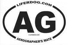 4 x 6  OVAL  UNITED STATES  NAVY AG AEROGRAPHER'S MATE STICKER