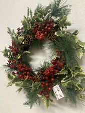 26 Inches Red Berry  Berries Wreath Handmade By Berries Floral Wholesale In TX