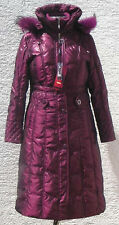 Women's Winter Long Down Jacket Coat(SN1195),Dark-Pink, US Size M