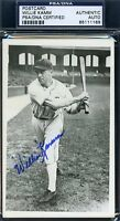 Willie Kamm Signed Psa/dna Photo Authentic Autograph