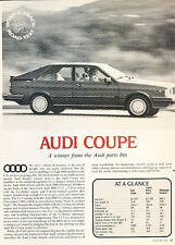 1981 Audi Coupe - Road Test bw - Classic Article A68-B