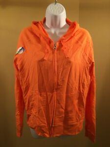 Hanes women's essential French terry hoodie orange Med