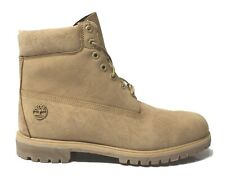 Timberland Mens Premium 6 inch Boots Leather Cream Camo UK 13.5 IS14