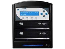 VINPOWER Black 1 to 2 64M Buffer Memory SharkBlu Blu-ray DVD CD Duplicator Tower