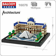 Balody Architecture Paris Louvre Museum Mini Diamond Building Blocks Toy