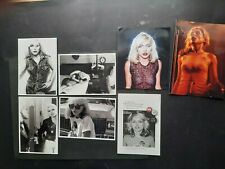 BLONDIE - JOB LOT OF PROMO POSTCARDS AND 2 COLOUR PHOTOS