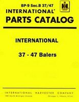 International 37 and 47 Twine and Wire Baler Balers Parts Catalog Manual