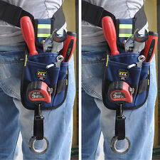 Professional  3 Pocket Electrician Clip On Tool Belt Bag Pouch w/ Tape Buckle