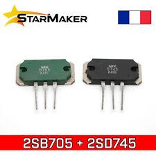 2SD745 + 2SB705 Paire de transistors Silicone NEC PNP + NPN 140V 10A - D745 B705