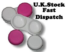 5 x Pink/White Contact Lens Case Soaking Storage L&R Double Box Travel Care