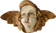 18th/19th Century Carved Wood Busts of Ange
