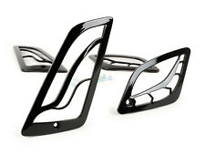 Vespa GTS GTV 125 250 300 Moto Nostra Indicator Grill Gloss Black Shiny Covers