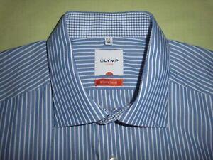 """""""OLYMP Luxor slim line"""" Langarm Hemd , Gr. 43-44  (17,5)  , blau-weiß gestreift"""