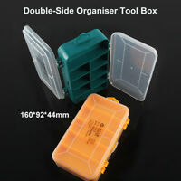 New Double Sided Plastic Storage Box Organiser Case with 13 Compartments UK