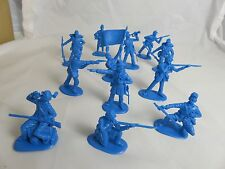 IMEX Civil War Union Infantry 1/32 -Medium blue,(54MM) 12 Toy Soldiers