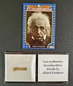 "TWO Authentic Handwritten Words by ALBERT EINSTEIN - ""Gallery of History"" COA"