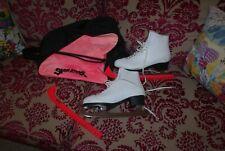 New listing BELATI leather ice skates sz 42 8 VGC bag blade guards white