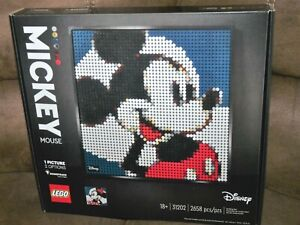 LEGO Art Disney's Mickey Mouse (31202) Brand New & Sealed Minnie Mouse too