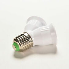 1pc E27 Vis Base Lumière Lampe Ampoule Douille DEL 1 To 2 Split Splitter Adaptateur