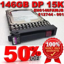 """HP 146GB 15K 2.5"""" 6G DUAL PORT SAS DRIVE 512547-B21 512744-001 EH0146FAWJB"""