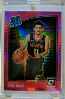 2018 18-19 OPTIC Pink Hyper Prizm Trae Young Rookie RC #198, RATED ROOKIE