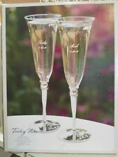 Silver plated toasting Flutes, Champagne glasses, Wedding Toasting Glasses