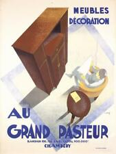 Original 1930s French Furniture Poster GRAND PASTEUR Lot 55