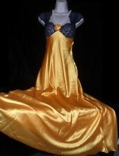 Scaasi Hollywood Glamour VTG SATIN SHINY Harlow 20S STYLE NEGLIGEE NIGHTGOWN