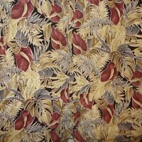Aloha Shirt Hawaiian Pacora Anthurium Flower Leaves Size Large Pierre Cardin