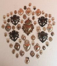 beautiful lot of 56 ex voto milagros  of sterling silver 925 solid old
