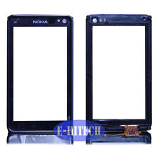 nokia n8 schwarz lcd touch screen digitizer pad vorne glasgestell fit + tools