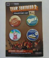 New Team Fortress 2 Loot Crate Exclusive 4 Pack Collector's Set Buttons Pins