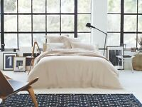 Sheridan Abbotson Belgian Linen Tailored Quilt Cover Flax