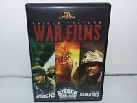 Attack! / Attack On The Iron Coast / Beach Red (DVD, Region 1 for USA/Canada)