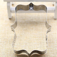 rectangular frame cookie molds stainless steel decor cookie cutter baking too Cw