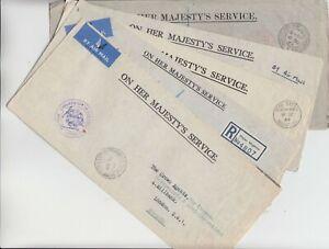 MAURITIUS 1964/5 5 OHMS CIVIL AVIATION, PRISONS, MARINE SERVICE, CHIEF SECRETARY