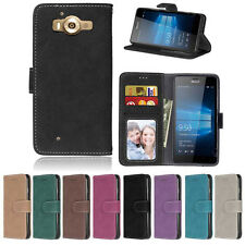 Retro Frosted Wallet Leather Skin Flip Case Cover For Nokia 640 950 550 650 850