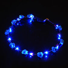 LED Flower Floral Hairband Garland Crown Glowing Wreath Wedding Party Headband