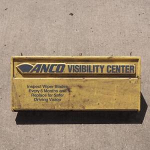 Vintage Anco Windshield Wiper Display Sign Advertising