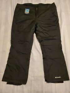 NEW Columbia Women's Modern Mountain 2.0 Waterproof Pants Black Size 3XL C2