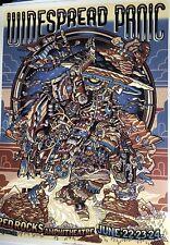 Widespread Wsmfp Panic Red Rocks poster 2018 Burwell gig print Morrison Colorado