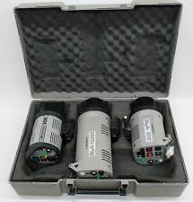 ELINCHROM Style 300, 1200S & 500 200/240V 50Hz Studio Flash Head Set 3x