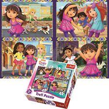 Trefl Dora And Friends 4 in 1 70+54+48+35 Piece Jigsaw Puzzle For Kids Dora