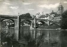 Carte SAINT GENIEZ D'OLT Le Pont et l'église vus des bords du Lot